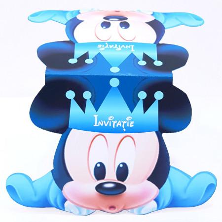 Invitatie Gemeni Contur Mickey Mouse 1