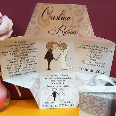 Invitatie Nunta Cutiuta Noi Doi