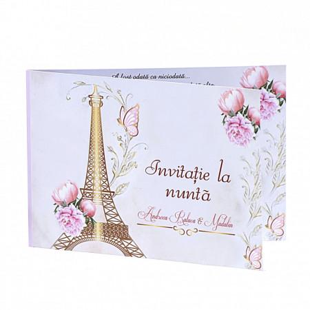 Invitatie Nunta Paris In Gold