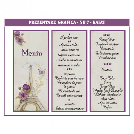 Meniu 2 in 1 Nunta-Botez NB7