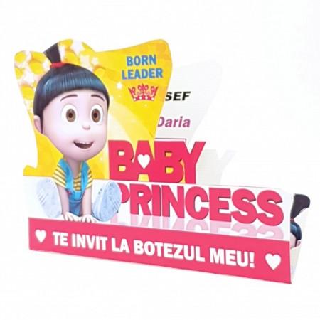 Invitatie Botez Contur Baby Princess 7
