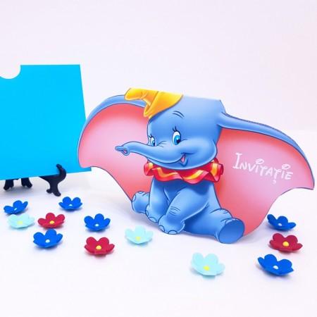 Invitatie Botez Contur Dumbo