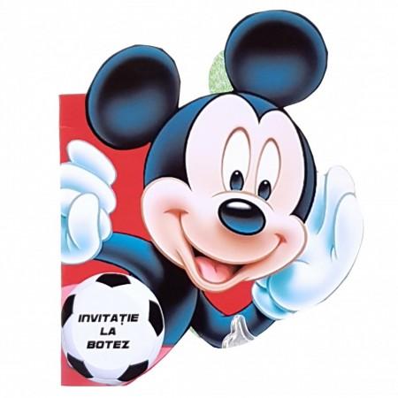 Invitatie Botez Contur Mickey Mouse 14