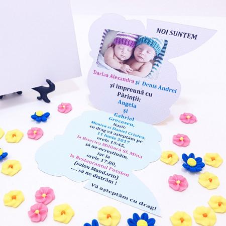 Invitatie Gemeni Contur Albinutul 3
