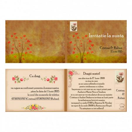 Invitatie Nunta Corespondenta