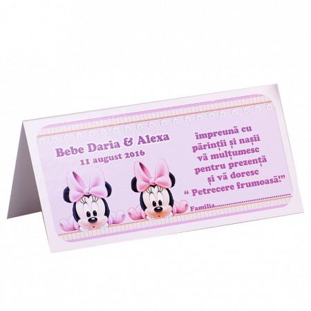 Plic Botez Gemeni 2 Minnie Mouse Var 1