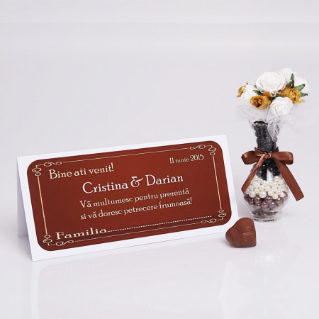 Plic Nunta Chocolate