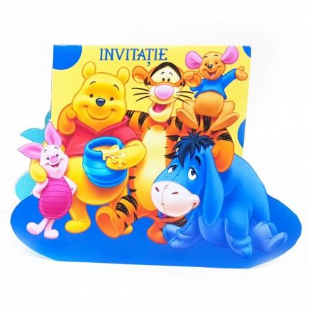 Invitatie Botez Contur Winnie si Prietenii