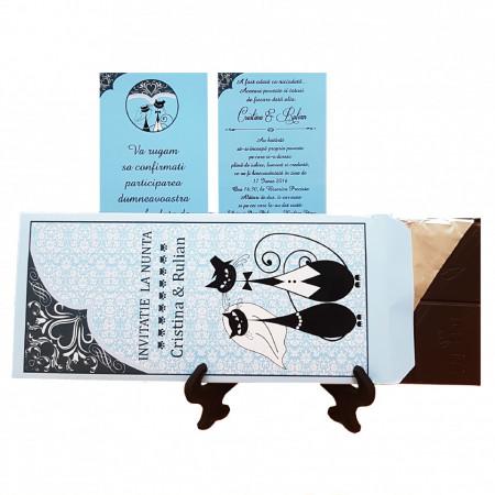 Invitatie Nunta Ciocolata Pisici