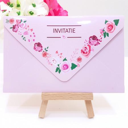 Invitatie Nunta Elegant Roz