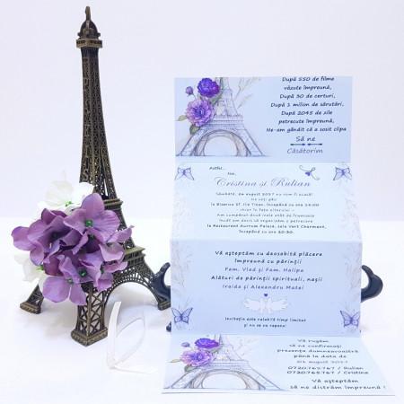 Invitatie Nunta Happy Paris