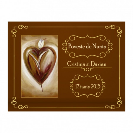 Marturie Nunta Magnet Chocolate
