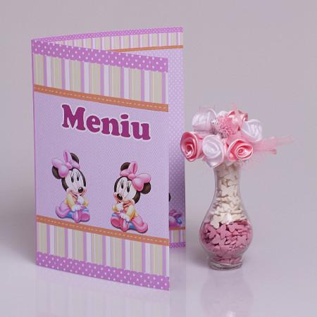 Meniu Botez Gemeni Simplu Minnie Mouse 1