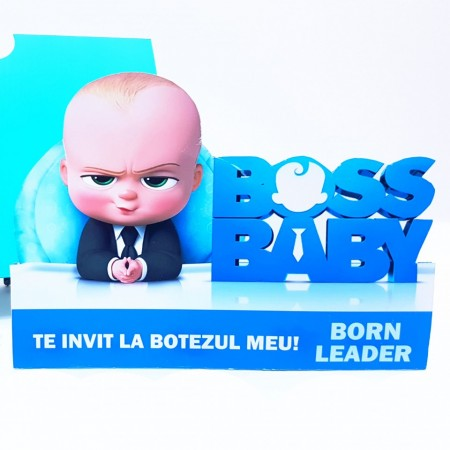 Invitatie Botez Contur Baby Boss 1
