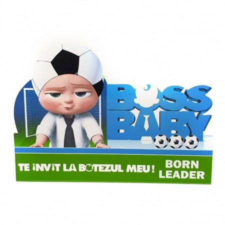 Invitatie Botez Contur Baby Boss 3