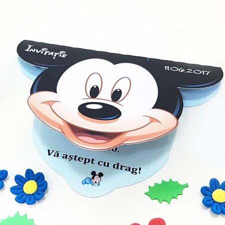 Invitatie Botez Contur Mickey Mouse 2
