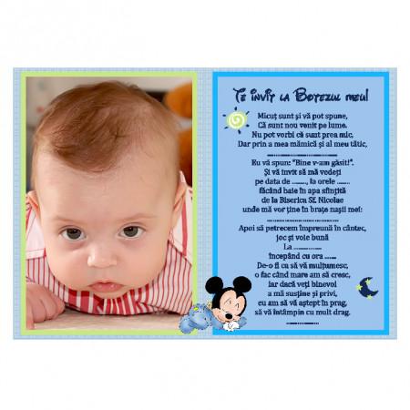 Invitatie Botez Magnetica Mickey Mouse 3