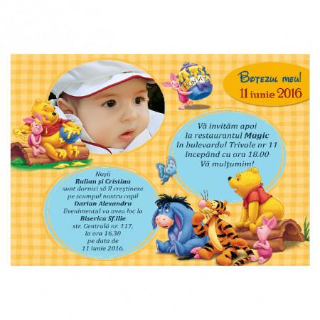 Invitatie Botez Magnetica Winnie The Pooh 2