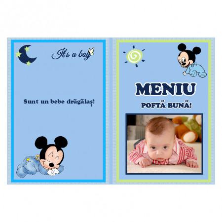 Meniu Botez cu Foto Mickey Mouse 2