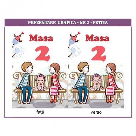 Nr de masa 2 in 1 Nunta-Botez NB2