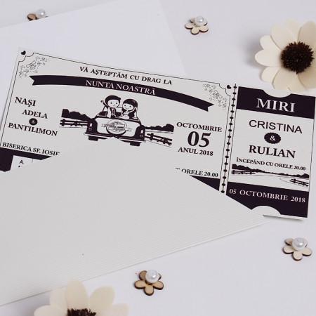 Invitatie Nunta BBS7 Tiket