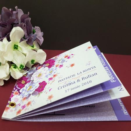 Invitatie Nunta Poveste Flower