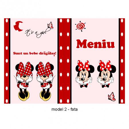 Meniu Botez Gemeni Simplu Minnie Mouse 2