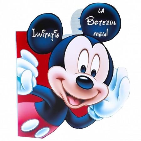 Invitatie Botez Contur Mickey Mouse 7