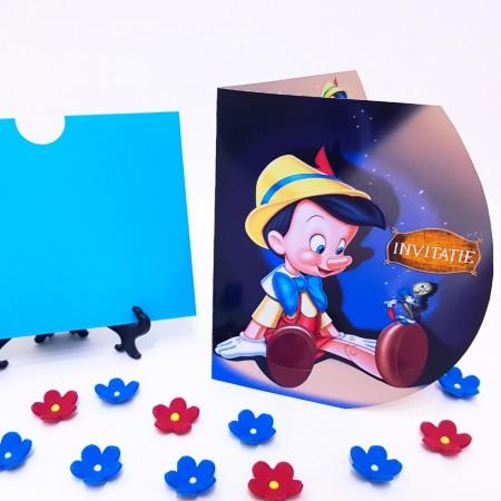 Invitatie Botez Contur Pinocchio