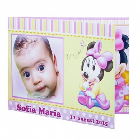 Invitatie Botez Dubla Minnie Mouse 2