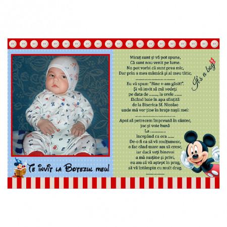 Invitatie Botez Magnetica Mickey Mouse 4