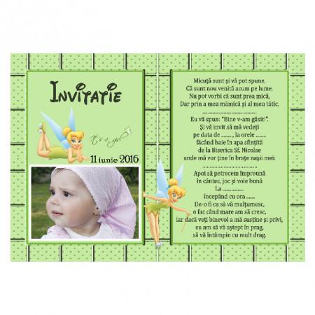 Invitatie Botez Magnetica Tinkerbell