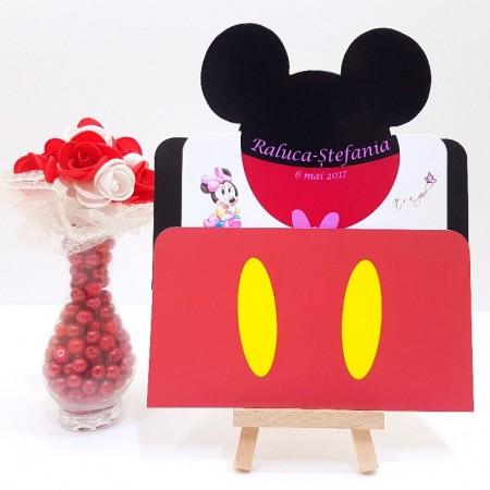 Invitatie Botez PRO Minnie Mouse 2