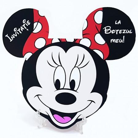Invitatie Botez Contur Minnie Mouse 1