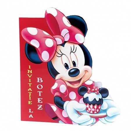 Invitatie Botez Contur Minnie Mouse 7