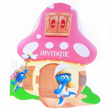 Invitatie Botez Contur Strumfita 6