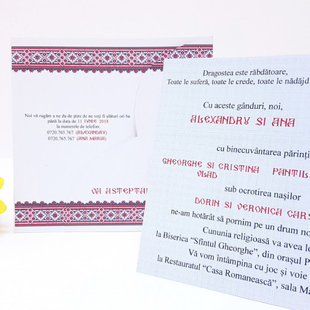 Invitatie Nunta BBS11 Traditional Romanesc 3
