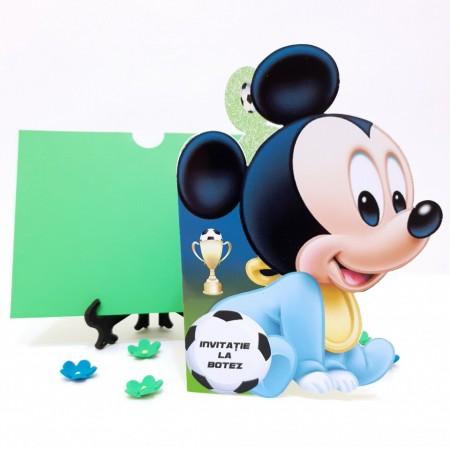 Invitatie Botez Contur Mickey Mouse 13