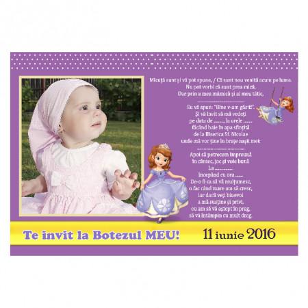 Invitatie Botez Magnetica Printesa Sofia 2