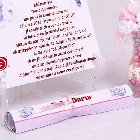 Invitatie Botez Papirus Me to You 1