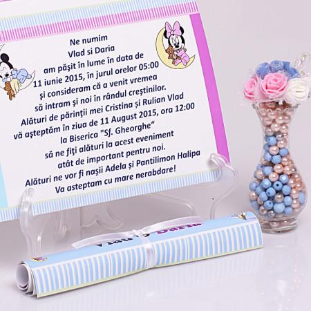 Invitatie Gemeni Papirus Mickey-Minnie Var 1