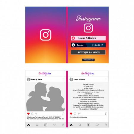 Invitatie Nunta Instagram