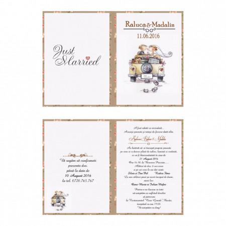 Invitatie Nunta Just Married
