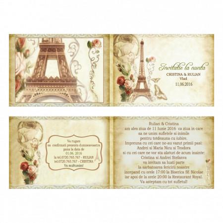 Invitatie Nunta Paris In Love 1