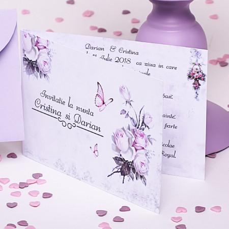 Invitatie Nunta Vintage Wedding