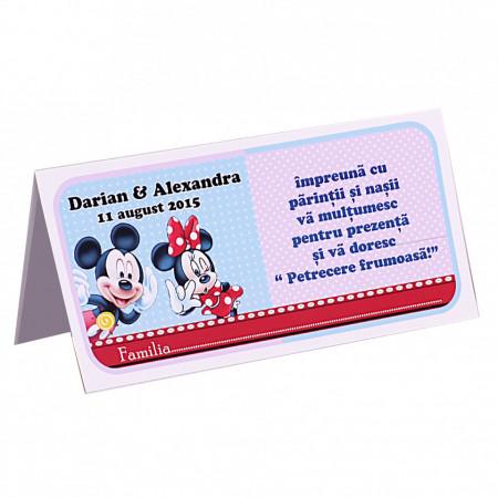 Plic Botez Gemeni Mickey-Minnie Var 3