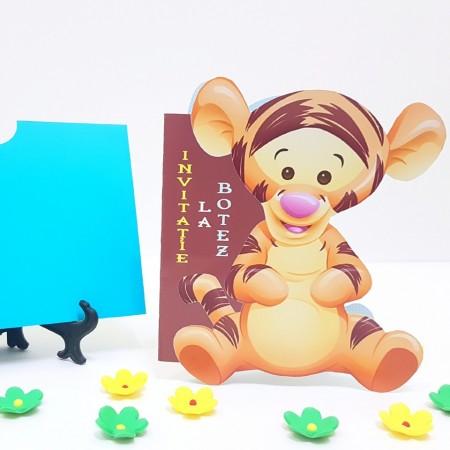 Invitatie Botez Contur Baby Tigger