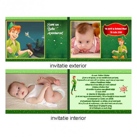 Invitatie Botez Dubla Peter Pan