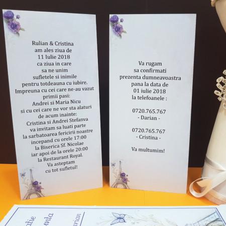 Invitatie Nunta Ciocolata Paris