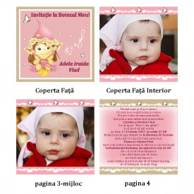 Invitatie Botez Carticica Fairy